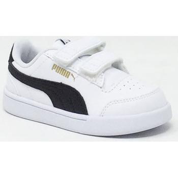 Chaussures Enfant Baskets basses Puma SHUFFLE BLANC/NOIR Blanc