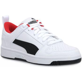 Chaussures Garçon Baskets basses Puma 01 REBOUND LAYUP LO SL V PS Bianco