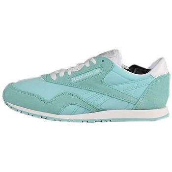 Chaussures Femme Baskets basses Reebok Sport CL Nylon Slim Pigme Blanc, Vert