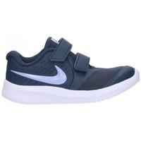 Chaussures Fille Baskets mode Nike AT1803 406 Niña Azul marino bleu