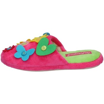 Chaussures Garçon Claquettes De Fonseca BUTTONART FUCHSIA