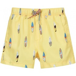 Vêtements Fille Maillots / Shorts de bain Mayoral Short de bain garçon illustré Surf Jaune