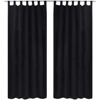 Maison & Déco Rideaux, stores VidaXL Rideau 225 cm Noir