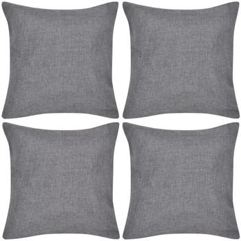 Maison & Déco Housses de coussins Vidaxl Taie d'oreiller 40 x 40 cm Gris