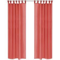 Parures de lit Rideaux, stores Vidaxl 140 x 175 cm Rouge