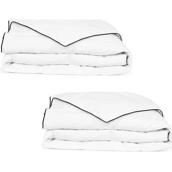 Maison & Déco Couvertures Vidaxl Couette 155 x 220 cm Blanc