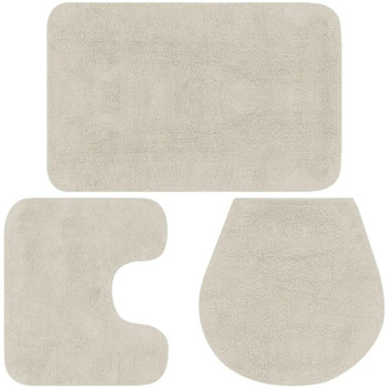 Maison & Déco Tapis de bain Vidaxl Jeu de tapis de salle de bain Blanc