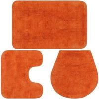 Maison & Déco Tapis de bain Vidaxl  Orange