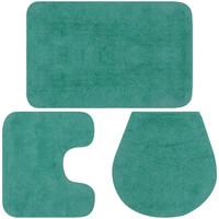 Maison & Déco Tapis de bain Vidaxl Jeu de tapis de salle de bain Turquoise