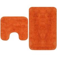 Maison & Déco Tapis de bain Vidaxl Ensemble de tapis de salle de bain Orange