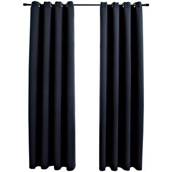 Maison & Déco Rideaux, voilages, stores Vidaxl Rideau 140 x 245 cm Noir