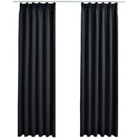 Parures de lit Rideaux, stores Vidaxl 140 x 175 cm Noir