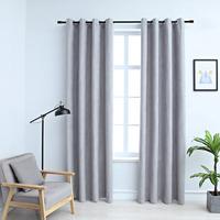 Maison & Déco Rideaux, stores VidaXL Rideau 140 x 245 cm Gris