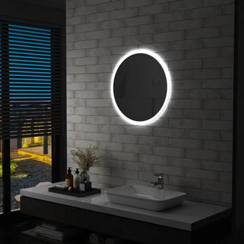 Maison & Déco Miroirs Vidaxl Miroir à LED 60 cm Argent