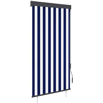 Maison & Déco Rideaux, voilages, stores Vidaxl Store roulant d'extérieur 80 x 250 cm Bleu