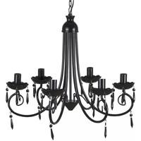 Maison & Déco Lustres, suspensions et plafonniers Vidaxl Lustre 55.5 x 46 cm Noir