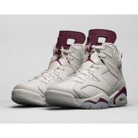 Chaussures Baskets montantes Nike Air Jordan 6 Maroon Off-White/New Maroon
