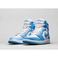 Chaussures Baskets montantes Nike Air Jordan 1 High UNC White/Dark Powder Blue