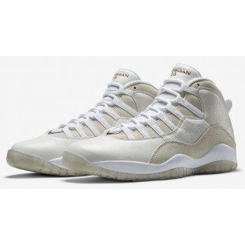 Chaussures Baskets montantes Nike Air Jordan 10 x OVO White Summit White/Metallic Gold-White