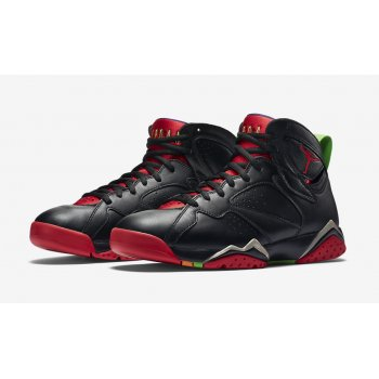 Chaussures Baskets montantes Nike Air Jordan 7 Marvin The Martian Black/University Red-GRN PLS-Cool Grey