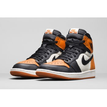 Chaussures Baskets montantes Nike Air Jordan 1 High Shattered Backboard Black/Starfish-Sail