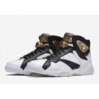 Chaussures Baskets montantes Nike Air Jordan 7 Championship White White/Metallic Gold-Black
