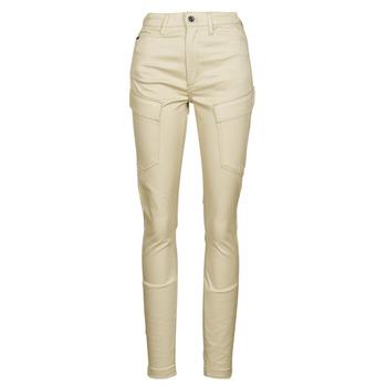 Vêtements Femme Pantalons cargo G-Star Raw HIGH G-SHAPE CARGO SKINNY PANT WMN Beige