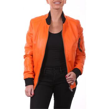 Vêtements Vestes en cuir / synthétiques Ladc Didier Orange Orange