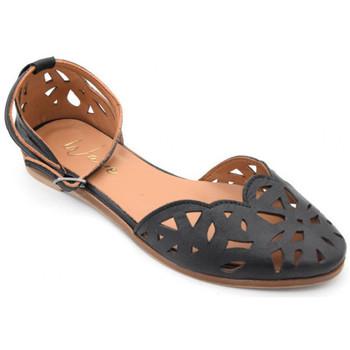 Chaussures Femme Sandales et Nu-pieds Wave as-9118 Noir
