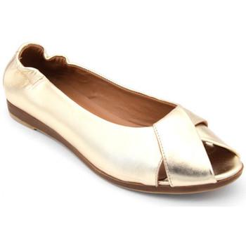 Chaussures Femme Ballerines / babies Wave ok-9405 Doré