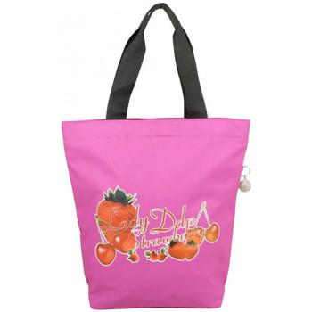 Sacs Femme Cabas / Sacs shopping DDP Sac cabas forme trapèze exotique lady  Rose Fuchsia Multicolor