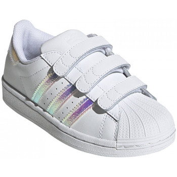 Chaussures Enfant Baskets basses adidas Originals Superstar cf c Blanc