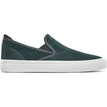 Chaussures Slip ons Emerica WINO G6 SLIP ON GREEN WHITE