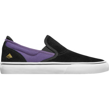 Chaussures Slip ons Emerica WINO G6 SLIP ON BLACK PURPLE