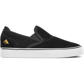 Chaussures Enfant Slip ons Emerica WINO G6 SLIP-ON YOUTH BLACK WHITE GOLD