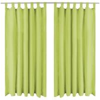 Parures de lit Rideaux, stores Vidaxl 245 cm Vert