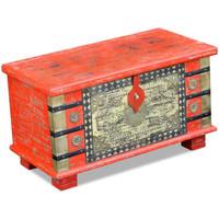 Maison & Déco Malles, coffres de rangements Vidaxl 80 x 40 x 45 cm Rouge