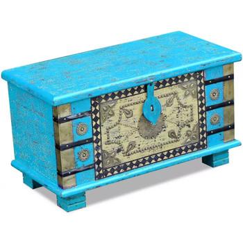 Maison & Déco Malles, coffres de rangements Vidaxl Coffre de rangement 80 x 40 x 45 cm Bleu