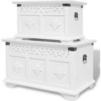 Maison & Déco Malles, coffres de rangements Vidaxl  Blanc