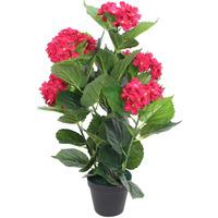 Parures de lit Plantes artificielles Vidaxl  Rouge