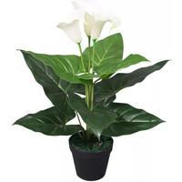 Parures de lit Plantes artificielles Vidaxl  Blanc