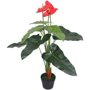 Maison & Déco Plantes artificielles Vidaxl Plante artificielle Rouge