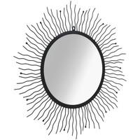Maison & Déco Miroirs Vidaxl Miroir de jardin 80 cm Noir