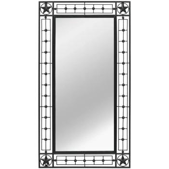 Maison & Déco Miroirs Vidaxl Miroir de jardin 60 x 110 cm Noir