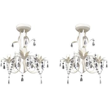 Maison & Déco Lustres, suspensions et plafonniers Vidaxl Lustre Blanc
