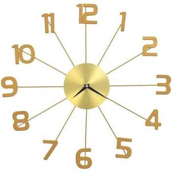 Maison & Déco Horloges Vidaxl Horloge murale 50 cm Or