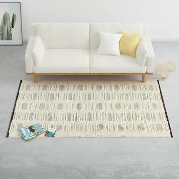 Parures de lit Tapis Vidaxl 160x230 cm Blanc