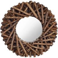 Maison & Déco Miroirs Vidaxl Miroir Φ 40 cm Brun
