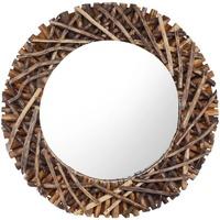Maison & Déco Miroirs Vidaxl Miroir Φ 60 cm Brun