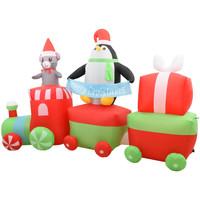 Maison & Déco Décorations festives VidaXL Pingouin gonflable en train 350 cm Multicolore